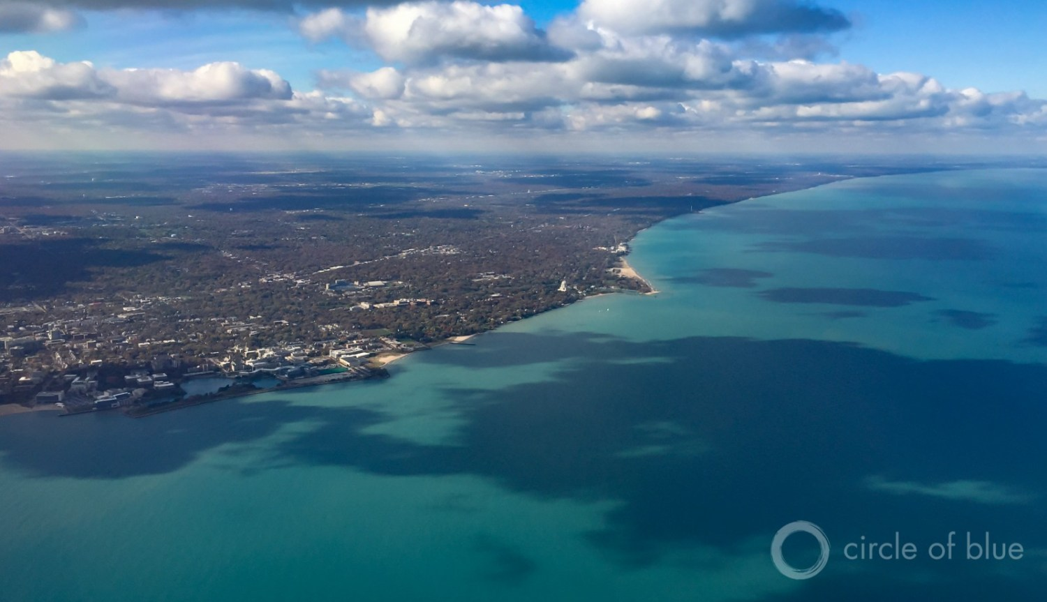 The city of Waukesha, Wisconsin, located just outside the Great Lakes Basin, is asking to withdraw water from Lake Michigan for public supply. The request is the first major test of the binational Great Lakes Compact that bans most out-of-basin water diversions. Photo © J. Carl Ganter / Circle of Blue