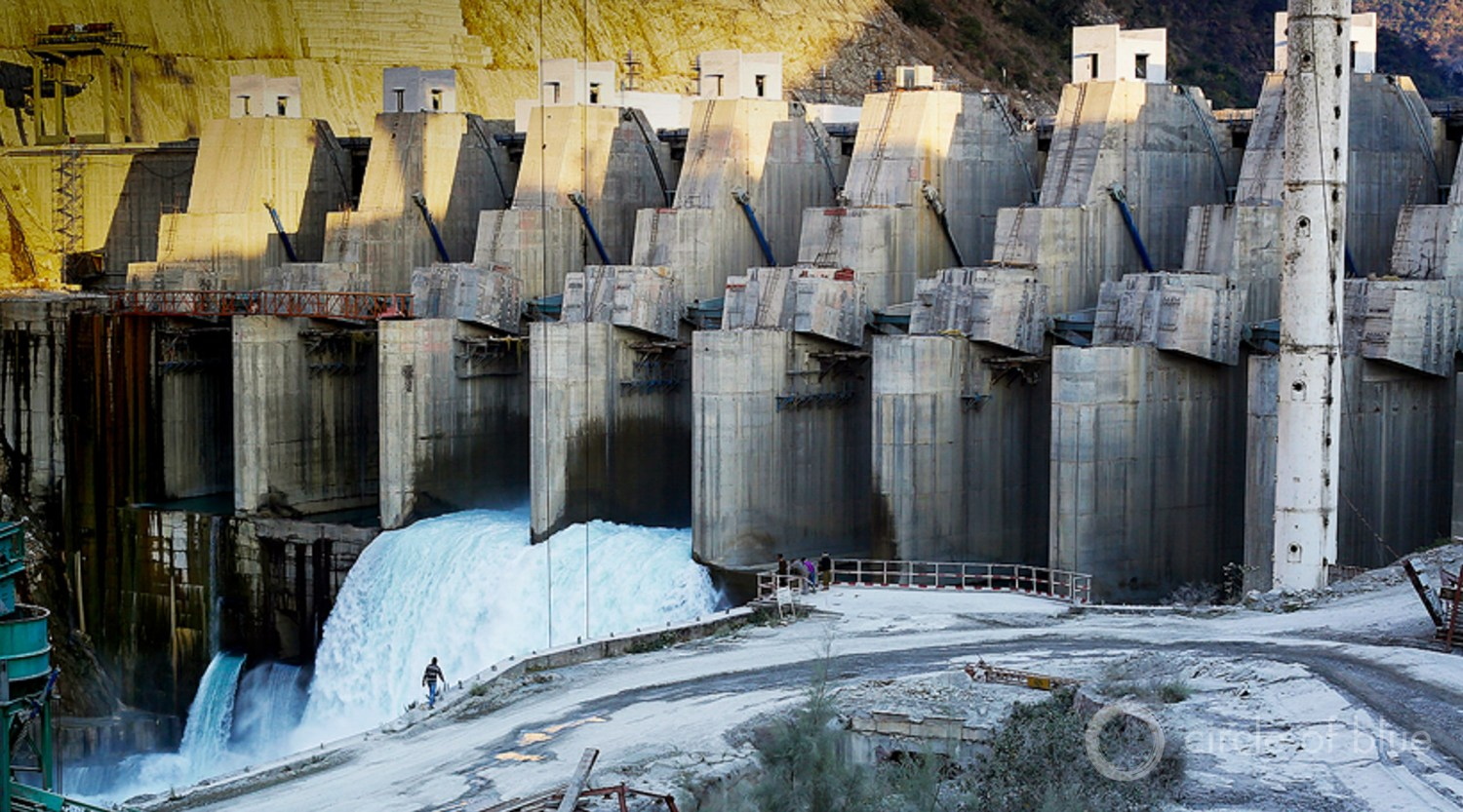 In March 2016 and April 2016, due to severe drought, generation from hydropower projects was 19 percent and 17 percent lower compared to the same months the previous year. Here, a hydropower project in Srinagar, a Himalayan hill city in Uttarakhand. Photo © Durham Malhotra