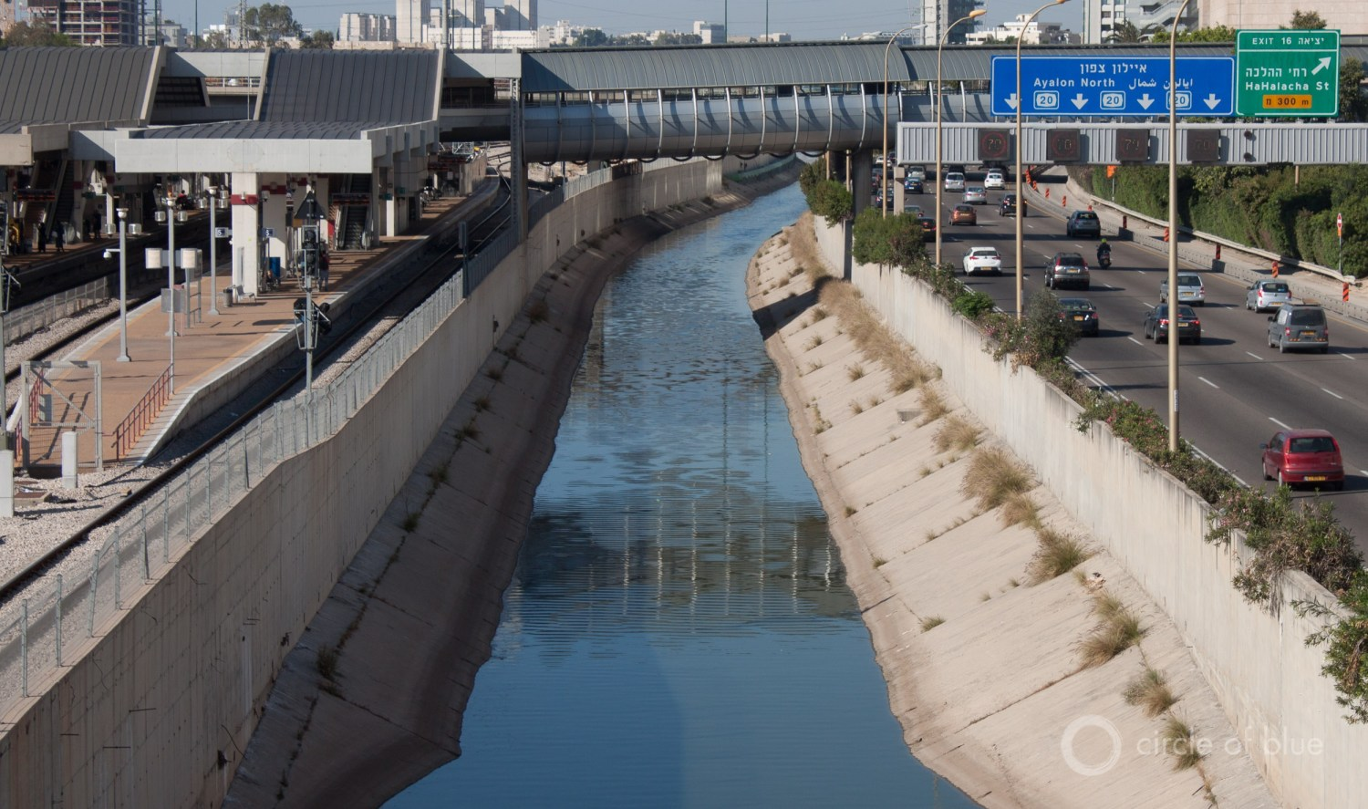A half century ago, Israel built canals to move water from the Jordan River to the coasts. Today, desalination plants send freshwater inland. Photo © Brett Walton / Circle of Blue