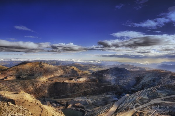The colossal 23-year-old Yanacocha gold mine spans nearly 1,600 square kilometers (600 square miles) across the summits of the Andes highlands. The mine, a geography of commanding industrial persistence, also is a permanent scar on the incomparably beautiful mountain terrain.