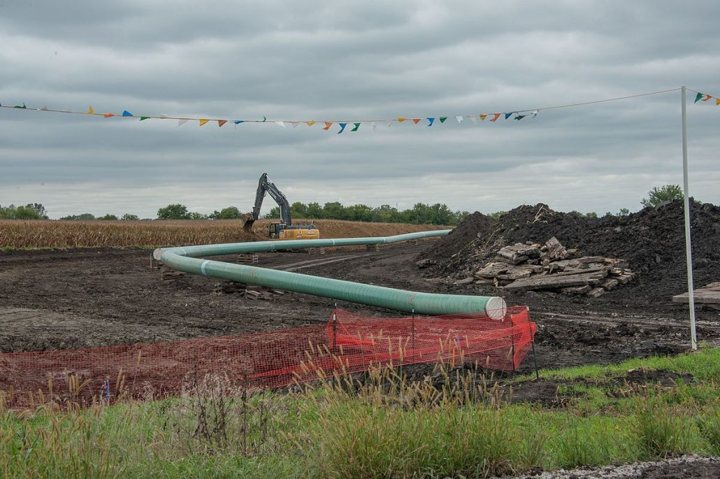 Construction of the Dakota Access pipeline in Central Iowa. Photograph from wikipedia.org creative commons.