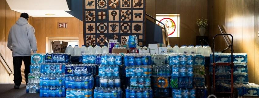 Bottled Water in Flint, Michigan. Photo by J. Carl Ganter.