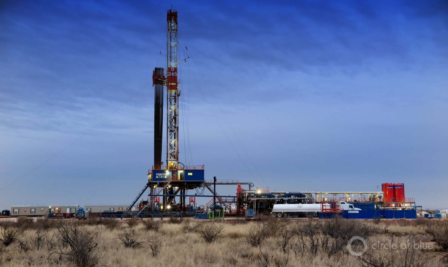 A Drilling Rig Explores For Oil In Southeast New Mexicos Permian Basin One Of The Most Productive Sources Of Shale Oil In The U S More Than 80 Rigs Now