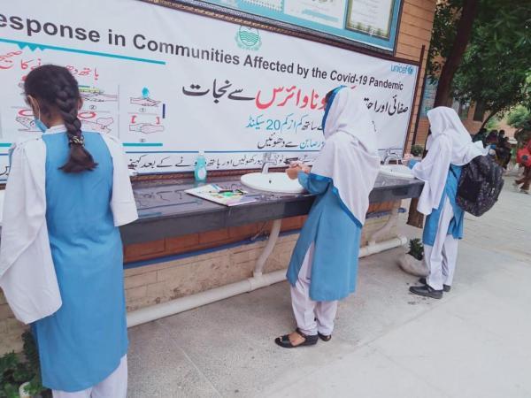 Handwashing in school