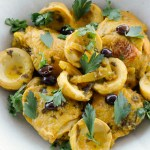 Moroccan Chicken with Artichokes, Olives and Preserved Lemons | circleofeaters.com