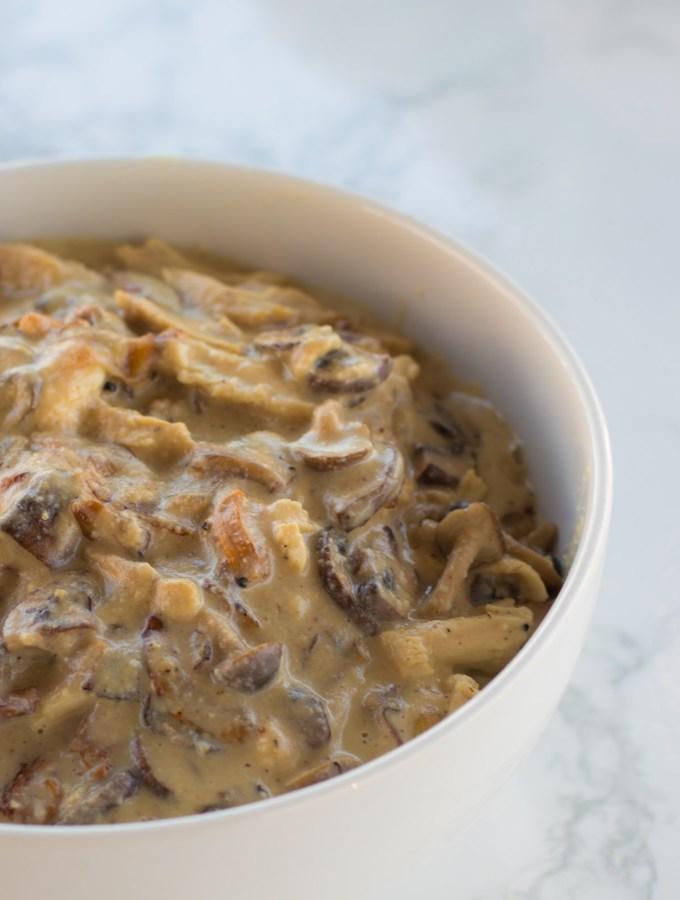 Creamy Mushroom Chicken with Cashew Cream