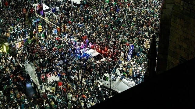 Center City Eagles Celebration
