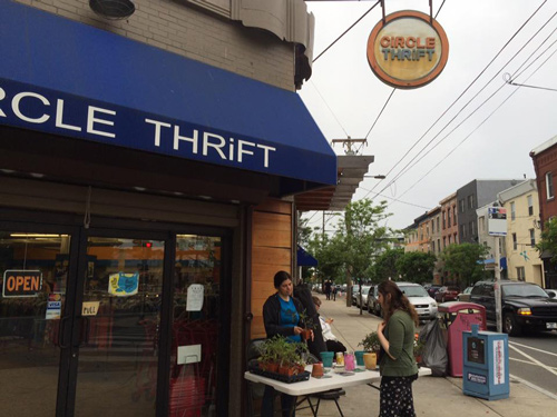 circle of hope, philadelphia, south jersey, thrift store, garden stand, urban farming promotion