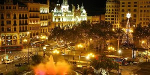 spain, madrid, city at night