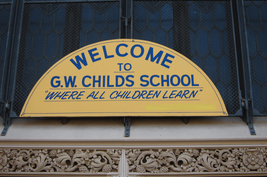 G.W. Childs Elementary in a South Philadelphia neighborhood