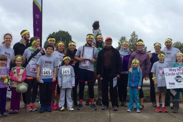 Circle of Hope team at the Lupus Loop