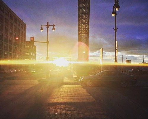 Circle of Hope, shot of sunset on South Broad street