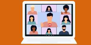 An illustration of a video conference like Zoom