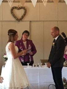 Wedding Ceremony conducted by Sue Dewing