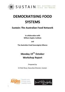 Democratising Food Systems Report