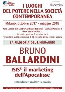 Locandina Bruno Ballardini. ISIS il marketing dell'Apocalisse