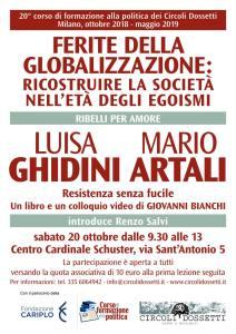 LUISA GHIDINI, MARIO ARTALI: Resistenza senza fucile. Un libro e un colloquio video di GIOVANNI BIANCHI