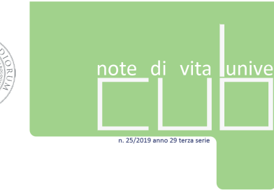 """""""IL Cubo – Note di vita universitaria"""" n. 25 2019"""