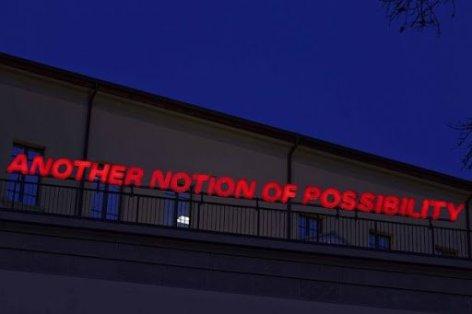 Maurizio Nannucci (Firenze, 1939) Another notion of possibility, 1987 plexiglass, neon, ferro