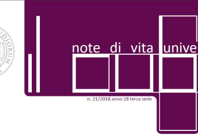 """""""IL Cubo – Note di vita universitaria"""" n. 21 2018"""