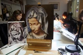 Barbara Medda, studio madonna, olio su pannello telato cm 35x50