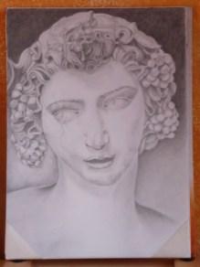 Marina: esercitazione su testa di Bacco ebbro (Michelangelo) aprile 2011