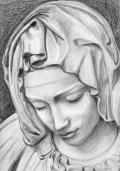 Vanna: scorcio di madonna, matita su carta. Ottobre 2012