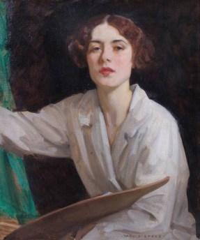 Lady Diana Bridgeman 67 x 56 cm olio su tela