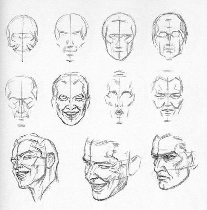 Ben noto come disegnare il volto con Andrew Loomis: i piani facciali  HJ06