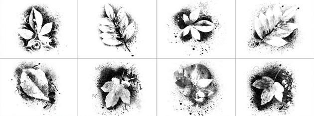 spray-paint-leaf-art