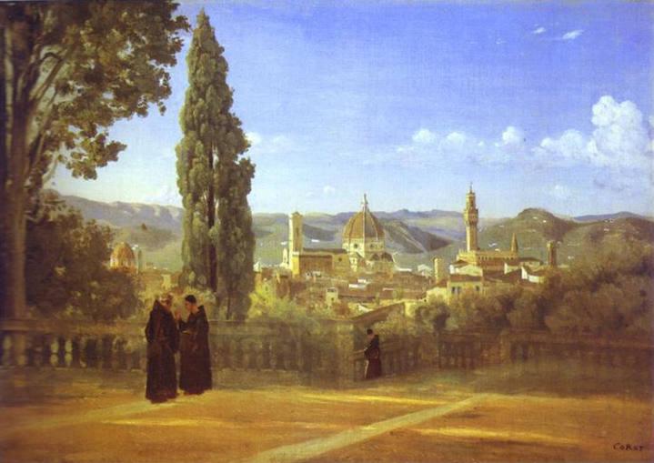 Florence-from-the-Boboli-Gardens-Jean-Baptiste-Camille-Corot