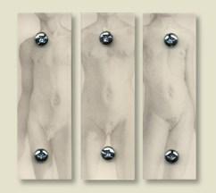 Aaron Board - Pubertas Ignorabimus - Punte d'argento e platino su legno con resina epossidica e viti