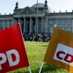 Io, attivista del PES, durante le elezioni tedesche