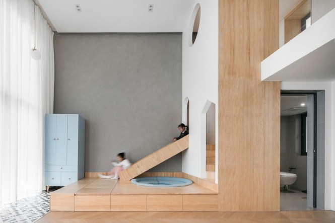 Atelier D Y Created An Awesome Two Kids Family Apartment