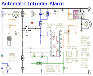 How to build A Simpler Cmos Single Zone Alarm  circuit