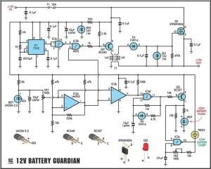 How to build 12 Volt Battery Guardian Circuit  circuit diagram