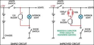 How to build Simple Headlight Reminders  circuit diagram