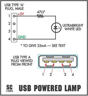 How to build The ItsyBitsy USB Lamp  circuit diagram