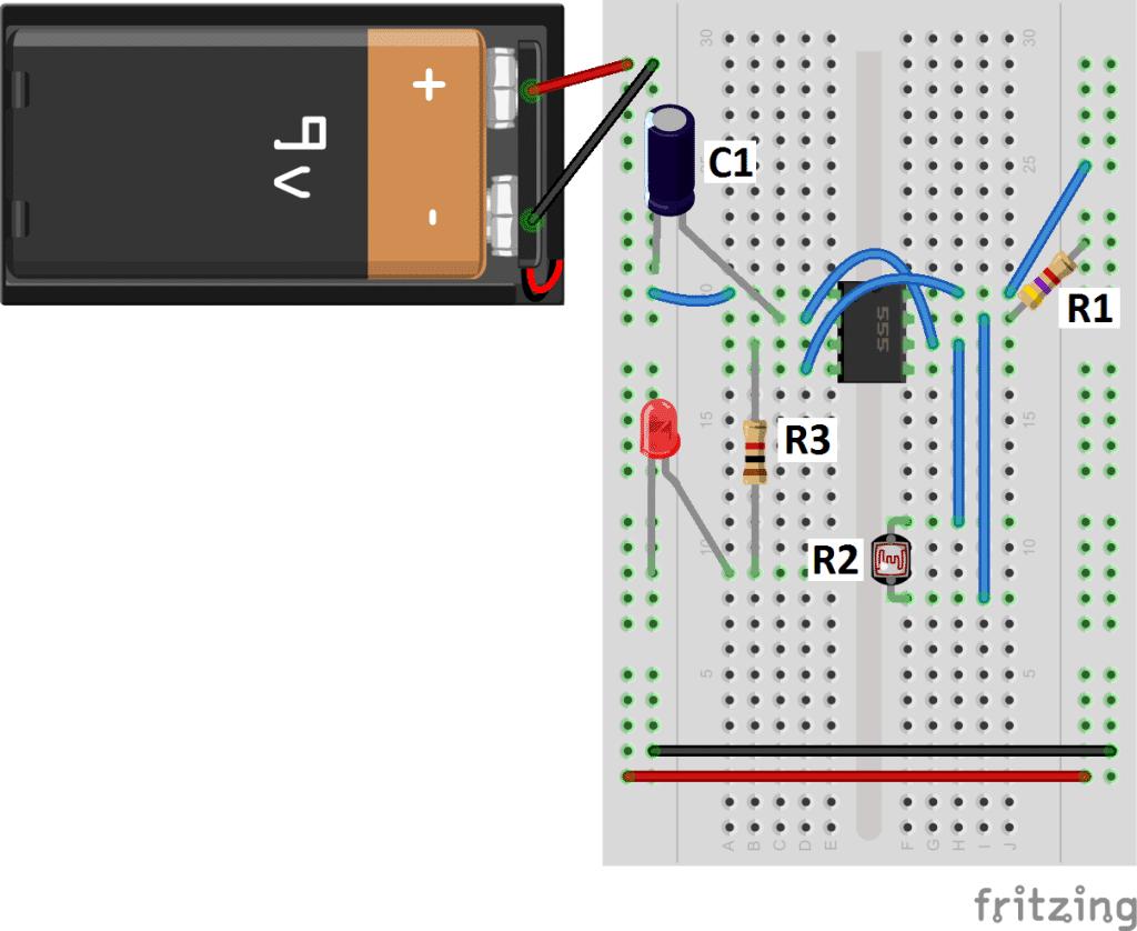 Led Counter Circuit Diagram