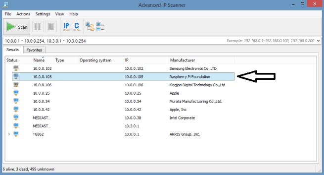 Advanced Ip scanner scan