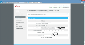 port forwarding configuration