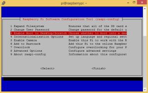 raspi-config boot to desktop