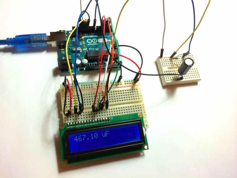 Arduino Capacitance Meter with LCD Output