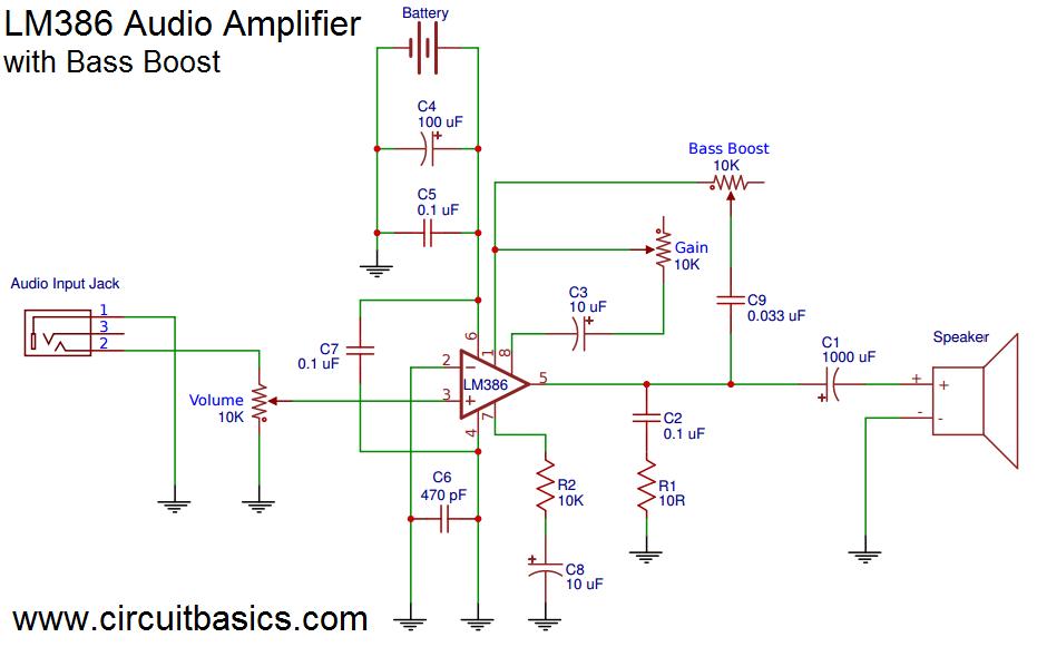 Headphone Schematic Amp Lm386