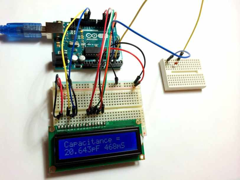 Two Pin Capacitance Meter with LCD Output