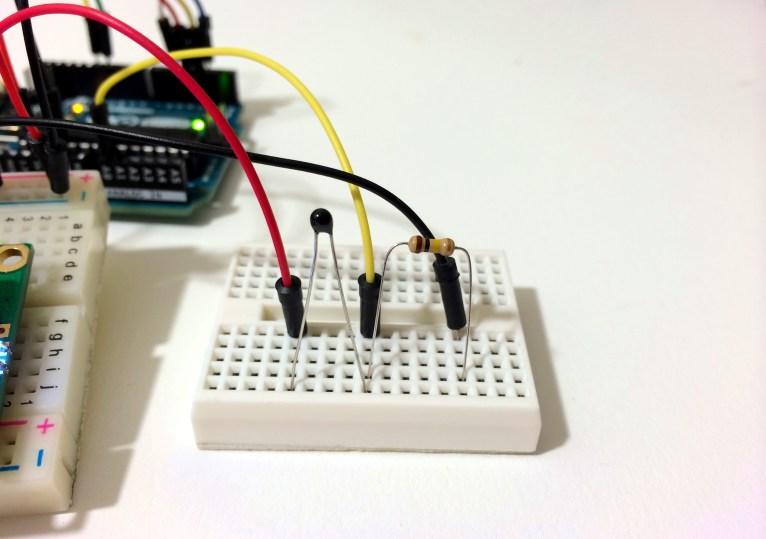 Arduino Thermistor Temperature Sensor Voltage Divider Circuit