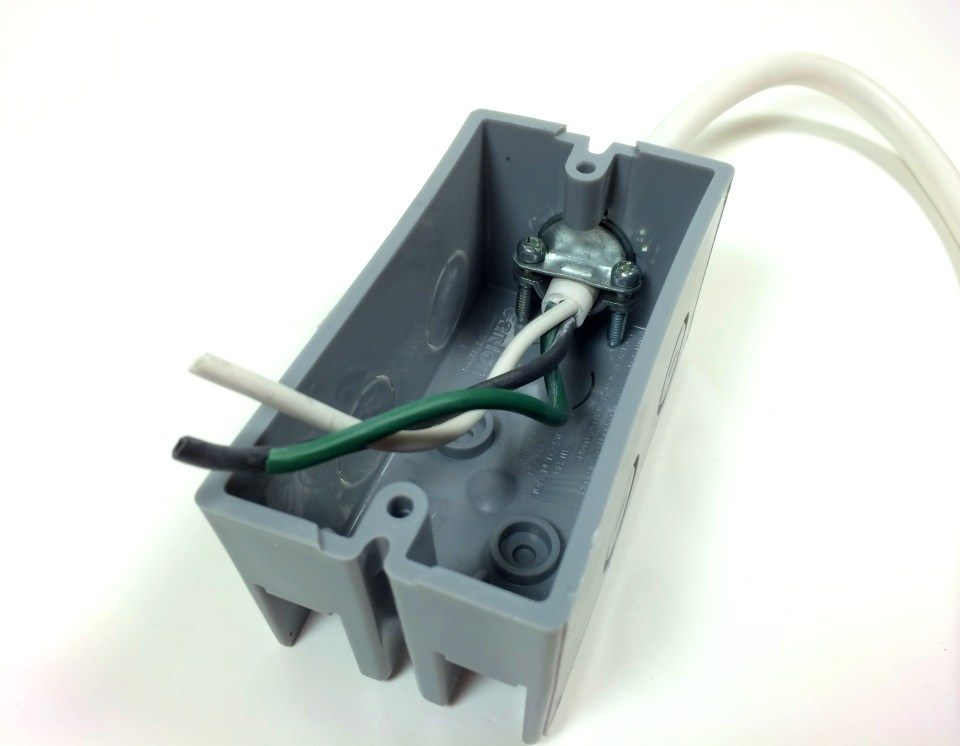Build an Arduino Controlled Power Outlet - Bringing the Electrical Cord Into the Outlet Box