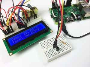 Raspberry Pi DS18B20 Temperature Sensor Tutorial - DS18B20 LCD Output