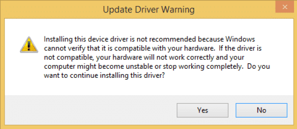Raspberry Pi Zero Ethernet Gadget - Update Driver Warning