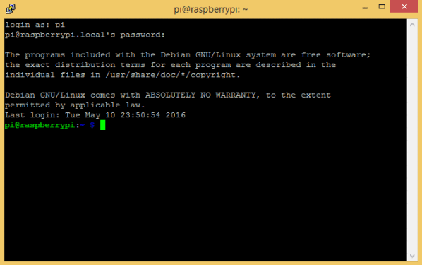 Raspberry Pi Zero Ethernet Gadget - raspberrypi.local First Log In
